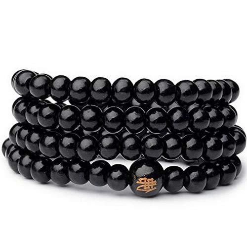 (Mikash Sandalwood Buddhist Buddha 8mm 108 Prayer Beads Mala Bracelets Necklace Hot | Model NCKLCS - 37689 |)