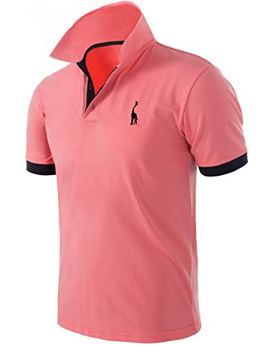 94715bc71 Pinkpum Mens Basic Polo Shirts Giraffe Golf Tennis T-Shirt MT1030 (Hd0709,  XXL)