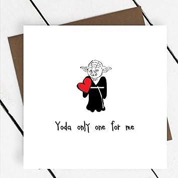 Yoda Nur Eine Fur Mich Karte Valentinstag Hochzeitstag Star Wars