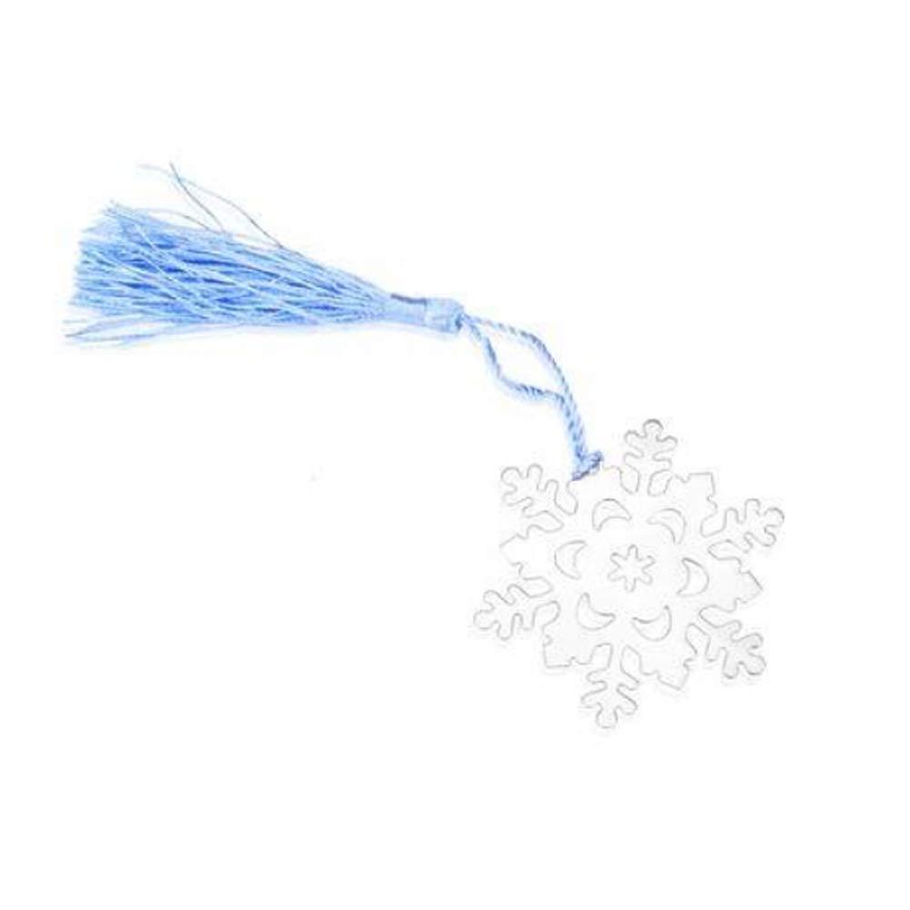 Gleader Silber Schneeflocke-Lesezeichen mit Box