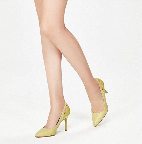 Kvindelige Komfortable Ny Mode Ximu Pumper Sandaler Bryllup Stilethæl Grønne Hule Sko Tip z8nq7dn4x
