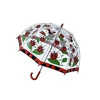 Bugzz Clear Dome Birdcage Kids Ladybird Umbrella