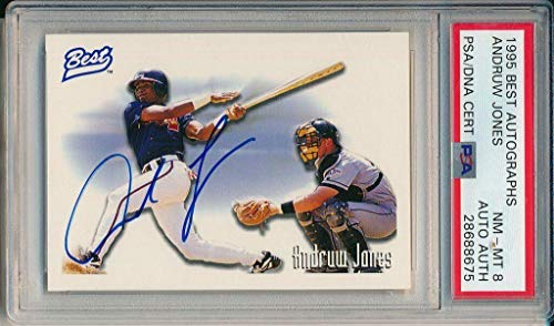Andruw Jones Atlanta Braves Signed 1995 Best Trading Card 143994 - PSA/DNA Certified - MLB Autographed Baseball Cards