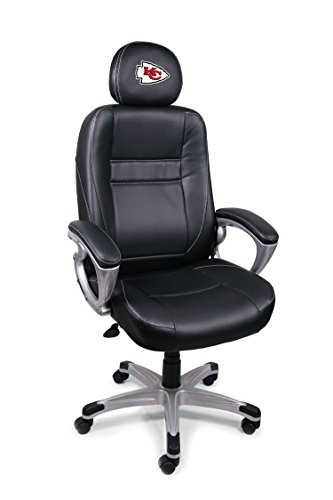 Save on NFL Kansas City Chiefs Leather Head Coach Office Chair and more