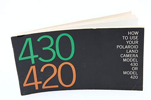 Polaroid Land Camera Model 430 or Model 420 Original Instruction Manual