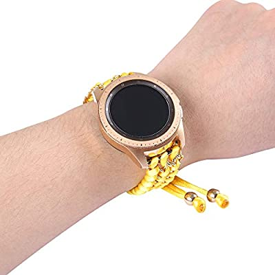 Juzzhou 22mm Watch Band For Samsung Gear S3 Classic/Frontier and Other 22mm Smart and Traditional Watch