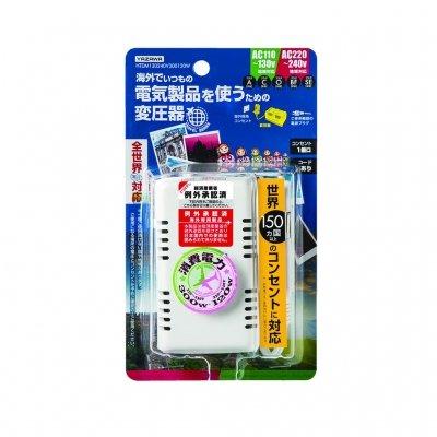 YAZAWA(ヤザワ) 海外旅行用マルチプラグ変圧器130V240V300120W HTDM130240V300120W 変圧器変換プラグ 変圧器 yz1-10669-ak [簡易パッケージ品] B07CMC5J58