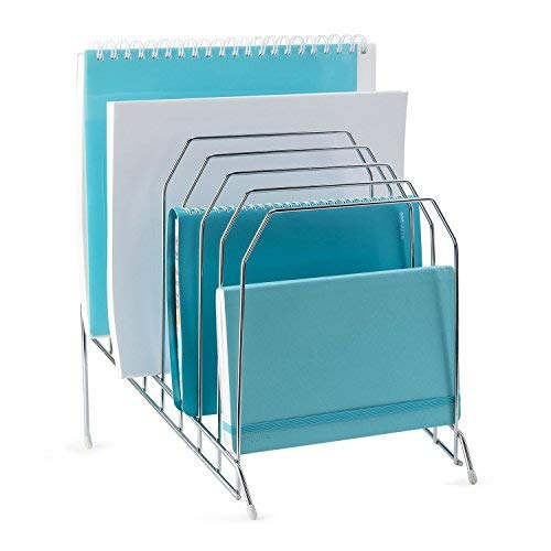 (Mindspace Multi Step File Organizer | Stackable Letter Tray | File Holder | The Wire Collection, Silver)