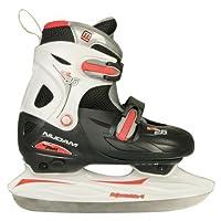 Eishockey Schlittschuhe Kinder größenverstellbar (27 - 30||schwarz rot)