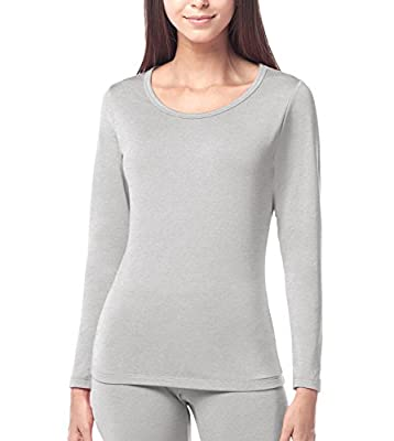 Lapasa Women's Thermal Underwear Shirt Fleece Lined Base Layer Long Johns Top L15