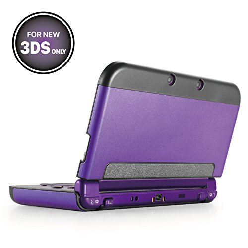 TNP New 3DS Case (Purple) - Plastic + Aluminium Full Body Protective Snap-on Hard Shell Skin Case Cover for New Nintendo 3DS 2015 - [New Modified Hinge-less Design]