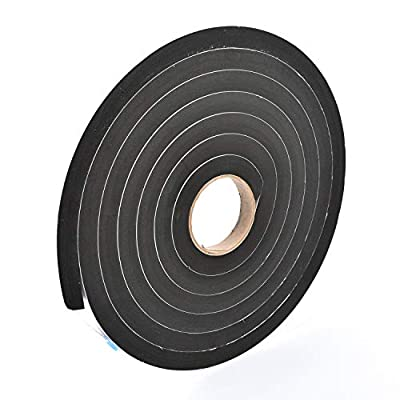 Sponge Neoprene Stripping W/Adhesive 3/4in Wide X 3/4in Thick X 15ft Long