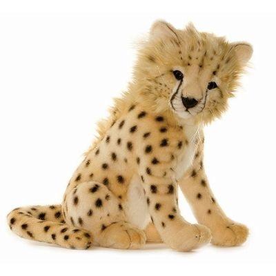 13'' Life-Like Handcrafted Extra Plush Cheetah Cub Safari Stuffed Animal by Handcrafted Cuddlers