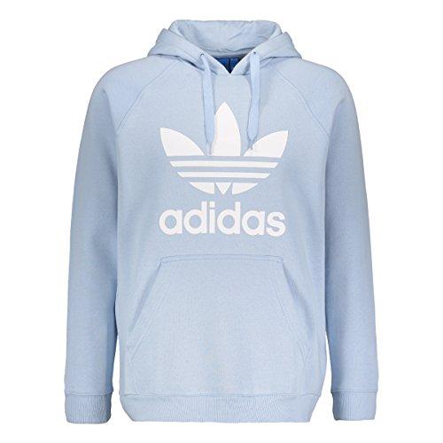Adidas Originals Mens Hoodie Trefoil Fleece Hooded Sweatshirt Top Blue New BQ5410