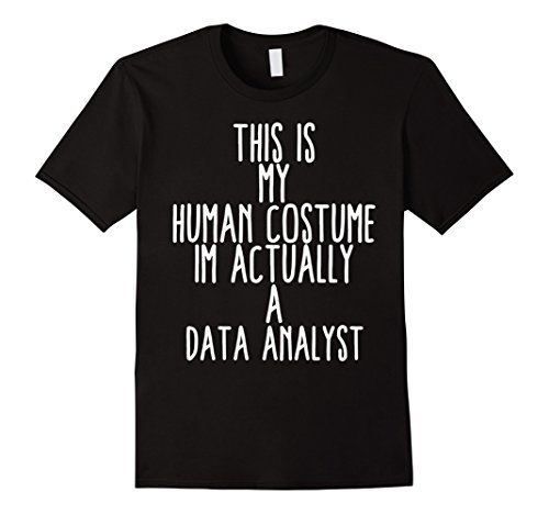 Mens Human Costume Data Analyst Big Data Science Analysis Storage 3XL Black
