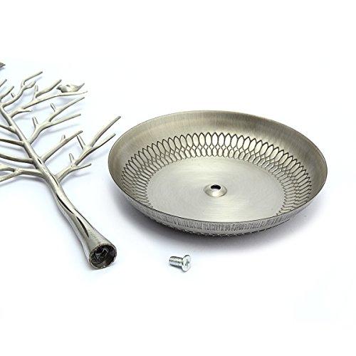 Birds Baumschmuckständer Anzeige Ohrring-Halsketten-Halter Schmuckständer (Antique Silver) - 5