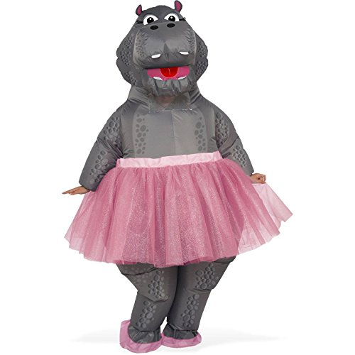 Animal Costumes (Rubie's Costume Co. Men's Inflatable Hippo Costume, As Shown, One)