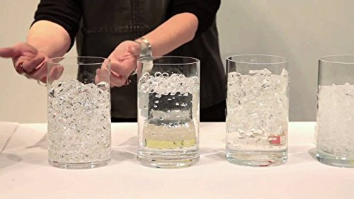LARGE EVENT 12-Pack Value Offer for JellyBeadZ Unique Transparent Water Bead Gels Vase Filler - for floating the Pearls...
