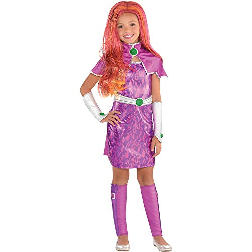 Suit Yourself Starfire Halloween Costume for Girls, DC Super Hero Girls, Small, Includes -