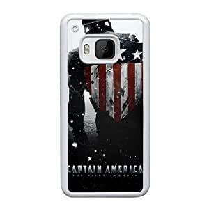 Generic hard plastic Captain America Cell Phone Case for HTC One M9 White ABC8354649