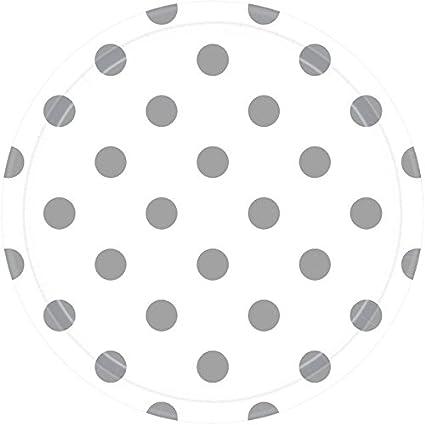 "Amscan Round Paper Plates 9/"" Black Dots"