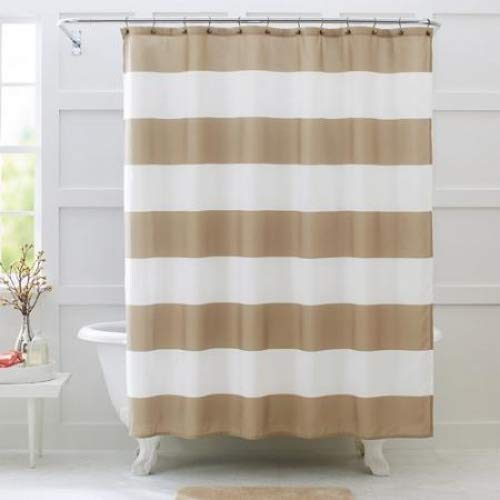 "Better Homes and Gardens Porter Stripe Fabric Shower Curtain, 72"" x 72"" from Better Homes & Gardens"