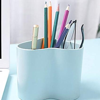 Creative Fresh Love Pen Holder Scatola portaoggetti da scrivania in plastica Semplice Studente//Forniture per Ufficio 10 Wimagic 9CM Beige