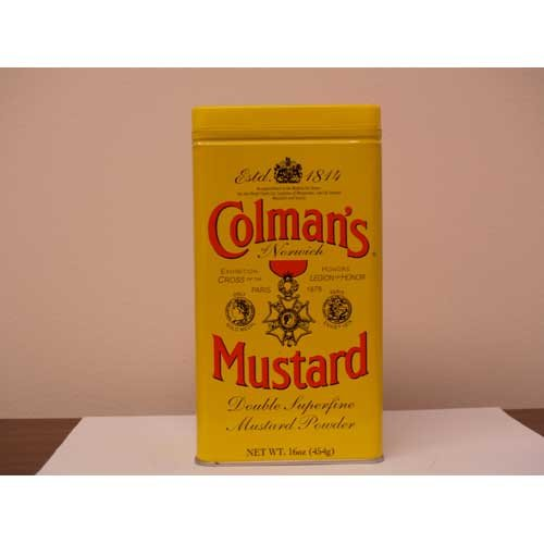 Colmans Dry Mustard Power, 16 Ounce -- 12 per case