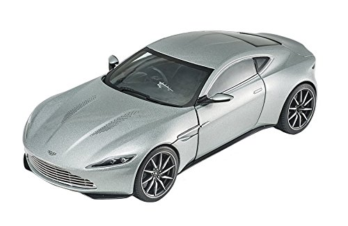 Aston Martin DB10 Silver James Bond 007 From ''Spectre'' Movie Elite Edition 1/18 by Hotwheels CMC94