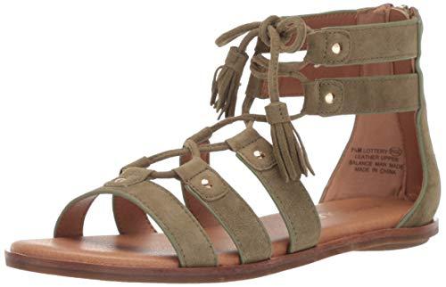 Suede Sandals Aerosoles (Aerosoles Women's Lottery Sandal MID Green Suede 9.5 M US)