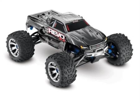 Traxxas Revo 3.3: 1/10 Scale 4WD Nitro-Powered Monster Truck with TQi 2.4GHz Radio & TSM, Silver