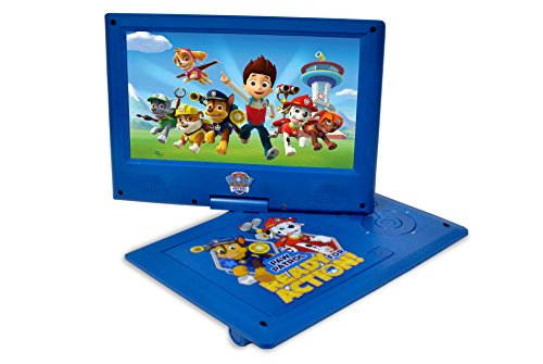 Ematic NPW7221PW Nickelodeons Paw Patrol Theme Portable DVD Player with 9-Inch Swivel Screen, Travel Bag and Headphones, Blue by Ematic (Image #2)