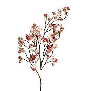 youeneom Artificial Peach Blossom Cherry Plum Bouquet Branch Silk Flower,Artificial Flowers Fake Flower Arrangements for Wedding Home Office Party Hotel Yard Decoration (C) 63