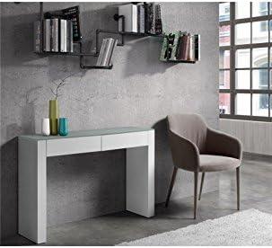 CAMINO A CASA – Consola Bandeja Cristal y 2 cajones Blancos Wow ...