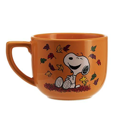 Hallmark Peanuts - Hallmark 6MJN1526 Oversized Peanuts Mug, Large, Harvest Leaves