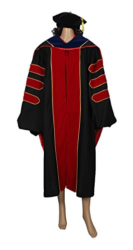 HappySecret Happy Secret Doctoral Gown Tam and Hood With Gold PINGING by HappySecret