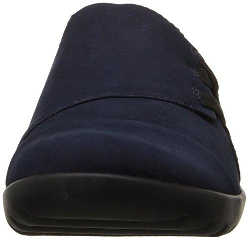 Medora CLARKS Slip Sandy Navy Nubuck Womens On Loafer CLARKS Womens qtfUrt