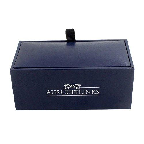 Ruby Stone Red Cufflinks | Wedding Anniversary Gift | Cuff Links Gift for Men | 5 Yr Warranty by AUSCUFFLINKS (Image #7)