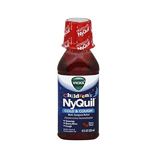 Vicks Childrens Nyquil Cold Cough Multi-Symptom Relief Liquid, Cherry 8 Oz (Pack of (Childrens Nyquil)