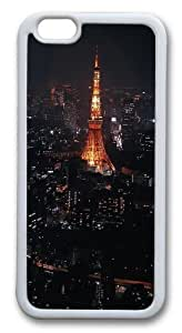iPhone 6 Case, iPhone 6 Cases -Night In Paris TPU Silicone Rubber Case Cover for iPhone 6 and iPhone 6 White