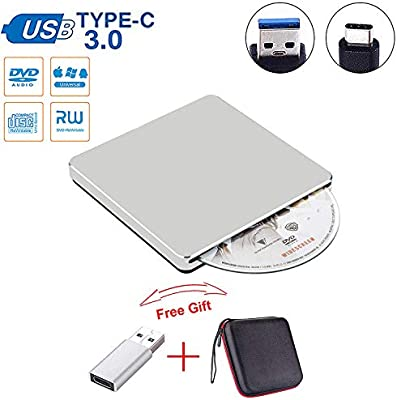USB C Superdrive Guamar External DVD CD Drive Type-C