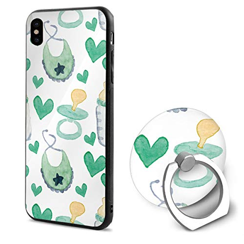 Baby Watercolor Mouth Towel Bottle TPU Case Ring Bracket Compatible iPhone X Cover 5.8 Inch