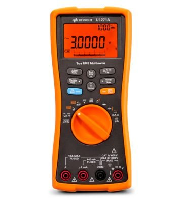 Keysight Technologies U1271A Handheld Digital Multimeter, 4½ digit, Water and Dust Resistant