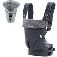 Ergo Baby 4 Position 360 Dusty Blue Carrier with Grey Insert