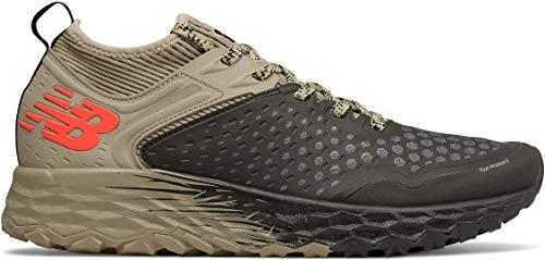 New Balance Men's Hierro V4 Fresh Foam Trail Running Shoe, Black/Trench/Alpha Orange, 9 D US