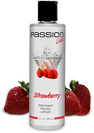 Passion Licks Strawberry Water Based Flavored Lubricant