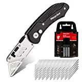 Morpilot Utility Knife Set Quick Change Blade for Househlod with Replaceable 50Pcs Blades