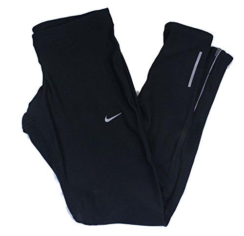 Nike negro Dri Fit mantener cálido mallas de Running Negro