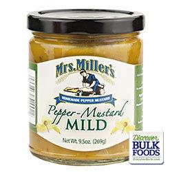 - Mrs. Miller's Mild Pepper Mustard 9.5 Oz. (2 Jars)
