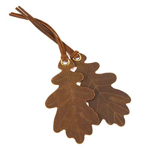 (Leather Bookmark Oak Leaf\Bourbon Brown(Pack 2))